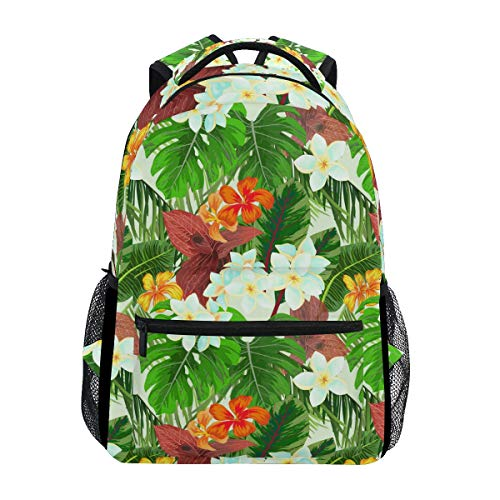 (Flower Cluster of Palm Leaves Large Backpack Travel Outdoor Sports Laptop Backpack for Women & Men College School Water Resistant )