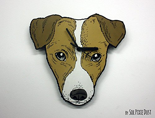 Jack Russell Dog Face Wall Clock