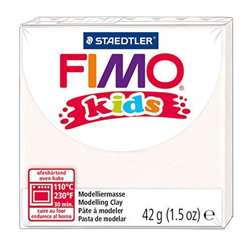 STAEDTLER Fimo Kids Oven-Bake Modeling Clay, 1.5 oz, White