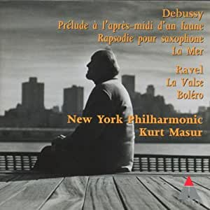 Debussy: Prelude to the Afternoon of a Faun; Rhapsody for Orch. & Saxophone; La Mer / Ravel: La valse; Bolero