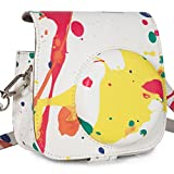 [Fujifilm Instax Mini 8 Case] - Nodartisan First Generation Colorful Painting PU Leather Case Bag for Instax Mini 8 8+ Camera - Little Pocket Design