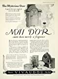 1923 Ad Mai D'or Perfume Frangrance Vivaudou Bottle Beauty Women Mysterious Door - Original Print Ad