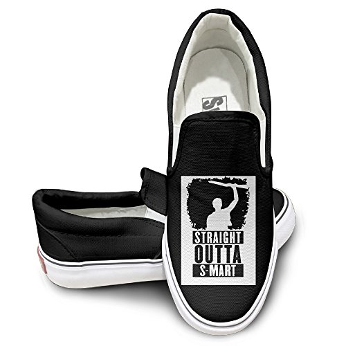 Straight Outta S-Mart Clip-on Canvas Shoes Rubber Sole To Help Low 43 Black