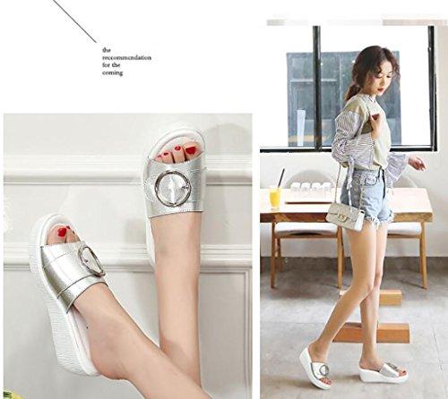 Mujer Con Planas color Pendiente Fafz 37 Zapatillas Salvajes Sandalias Verano sandalias Zapatillas B Moda Pantuflas Tamaño Mujer Y Para De B g8f5qnaOf