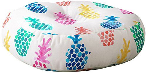 Deny Designs Dash and Ash Floor Pillow, Pineapple Paradise