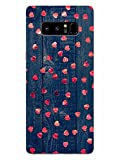 Madanyu Little Hearts On Wood Designer Printed Hard Back Shell Case for Samsung Galaxy Note 8