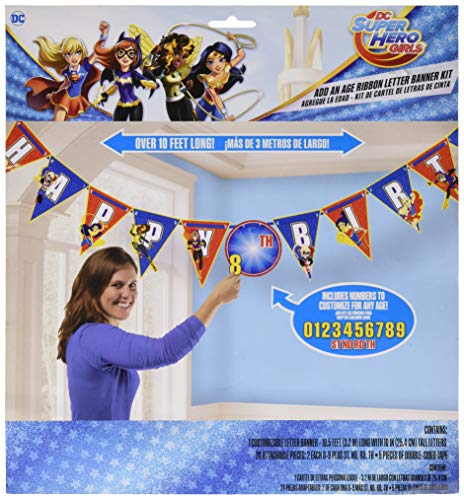 Ribbon Letter Banner | DC Super Hero Girls Collection | Birthday -