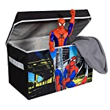 Spiderman Collapsible Kids Toy Storage Chest by Marvel - Flip-Top Toy Organizer Bin for Closets, Kids Bedroom, Boys & Girls Toys - Foldable Toy Basket Organizer with Strong Handles & Design