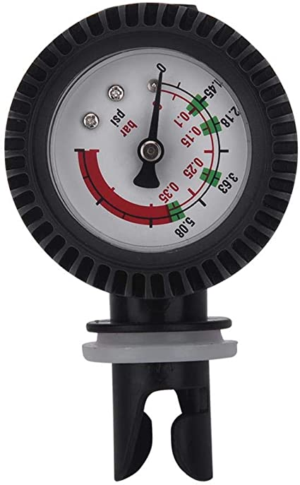 Nimoa Luftdruckmesser Nylon Schlauchboot Luftdruckmesser Barometer f/ür Kajakflo/ß schwarz