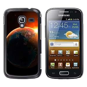 Flotando hacia los rayos del sol - Metal de aluminio y de plástico duro Caja del teléfono - Negro - Samsung Galaxy Ace 2