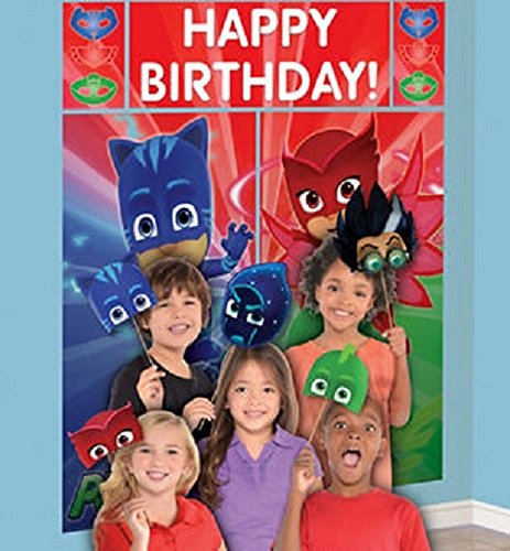 Giant Mask - PJ Masks Giant Scene Setter and 12 Photo Booth Props