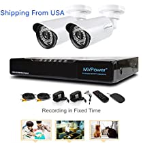 Gaintree 2PCS 4CH 720P DVR Surveillance System HDMI AHD Outdoor 1.0MP CCTV Security Cameras