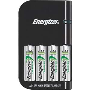 Cargador de batería, recarga 4 pilas AA o 4 pilas AAA en 30 ...