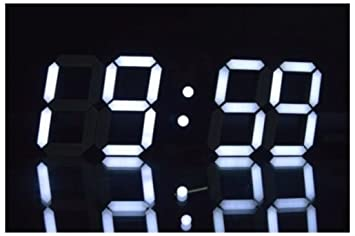 Amazoncom Large Modern Design Digital Led Skeleton Wall Clock