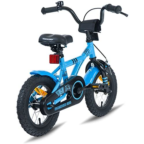cb7b306a726 hot sale PROMETHEUS Kids bike 12 inch Boys and Girls in Blue & Black with  stabilisers ...