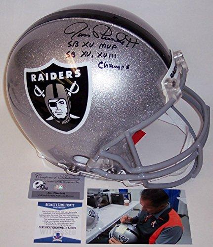 Jim Plunkett - Autographed Official Full Size Riddell Authentic Proline Football Helmet - Oakland Raiders - BAS Beckett