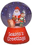Christmas Inflatable Santa Snowglobe by Holiday Time