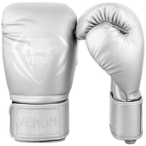 Venum Contender Boxing Gloves - Silver-Silver - 16 Ounces ()