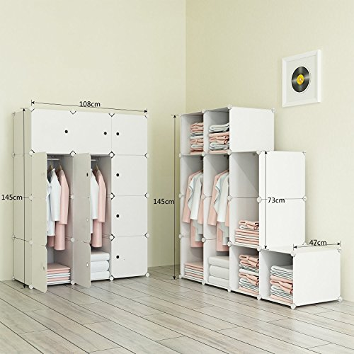 PREMAG Portable Wardrobe For Hanging Clothes, Combination