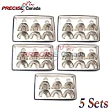 PRECISE CANADA: SET OF 5 DENTAL IMPRESSION TRAYS BABY SET OF 6 PCS PEFORATED DENTAL INSTRUMENTS
