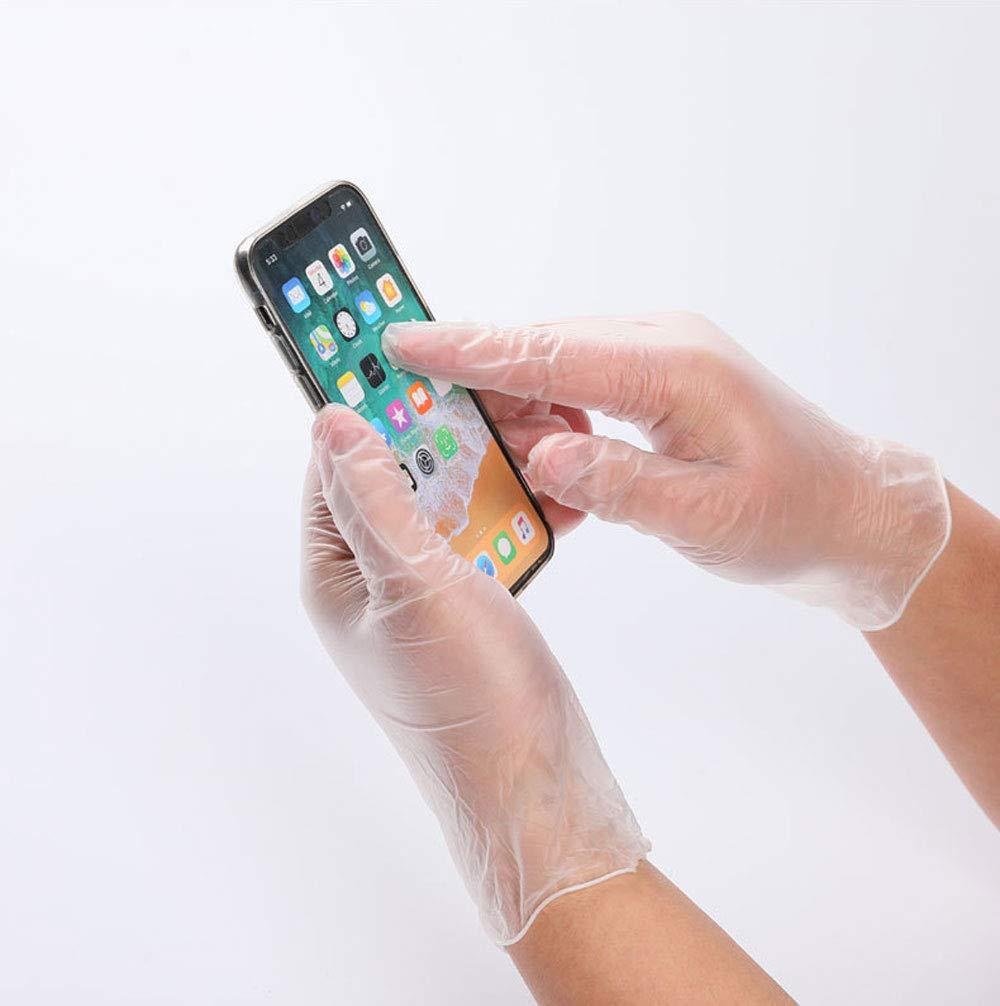 999 Guantes desechables higi/énicos transparentes para pantalla t/áctil de trabajo 100 unidades por caja protecci/ón del medio ambiente S