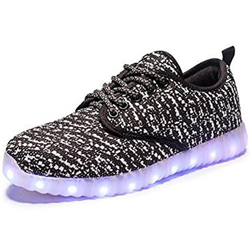 Price comparison product image Kids Boys Girls Toddler womens mens low help shoes USB Charging Led Light Up Flashing Sneakers Shoes