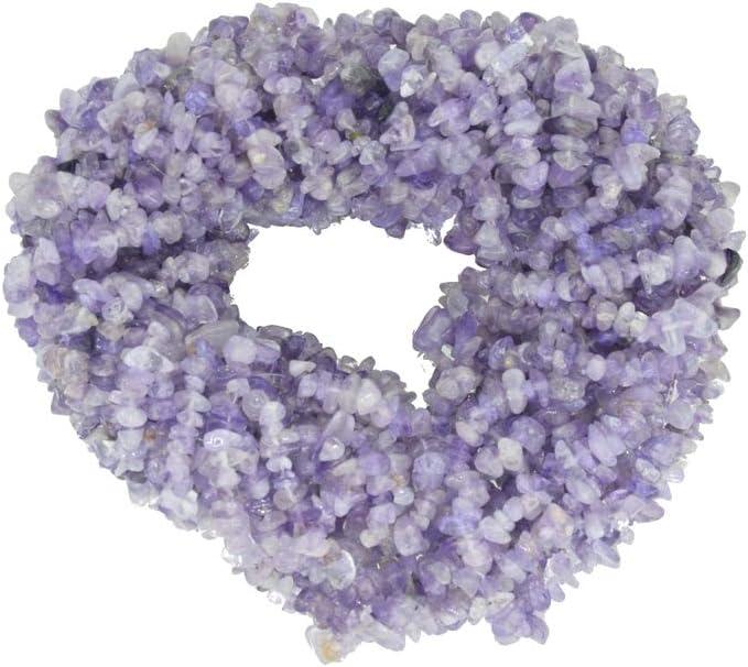 ShreeCrystalsBeads - Cuentas de piedras preciosas de amatista rosa natural para hacer joyas con forma libre, chips de amatista rosa, 10 hebras cada uno de 34 pulgadas de longitud