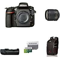 Nikon D810 FX-format Digital SLR Camera Body w/ Event Lens Deluxe Battery Grip Bundle