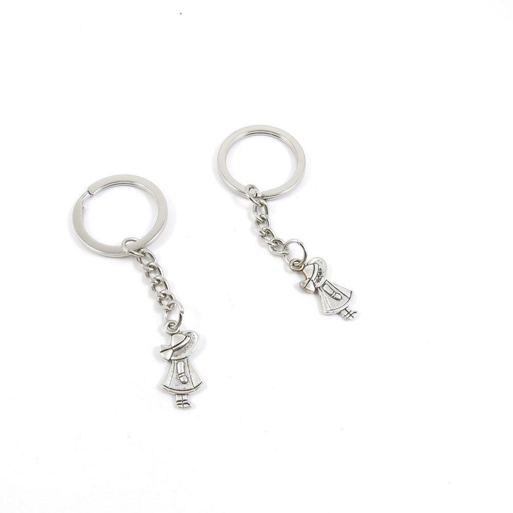 40 Pieces Keychain Door Car Key Chain Tags Keyring Ring Chain Keychain Supplies Antique Silver Tone Wholesale Bulk Lots H0ZX1 Little Girl