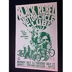 Black Rebel Motorcycle Club Brian Jonestown Massacre Northwest Concert Poster