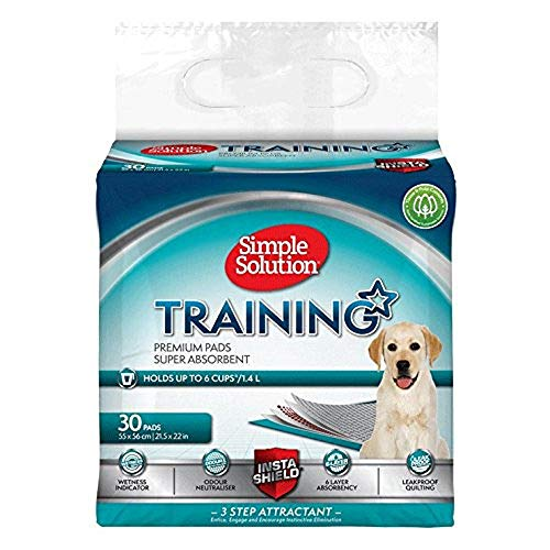 Simple Solution Premium Dog and Puppy Training Pads (Pack of 30)