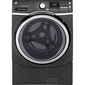 GE GFW450SPKDG 27' Front Load Washer with 4.5 cu. ft. Capacity, 10 Wash Cycles, 1300 RPM, Steam Cycle, in Diamond Gray