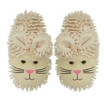 Adult Bunny Rabbit Fuzzy Friends Warm Slippers