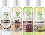 Carrier Oils For Essential Oil - 4 Piece Variety Pack Gift Set Coconut...