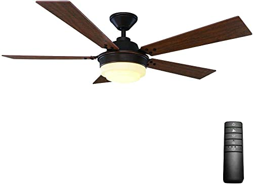 Home Decorators Emswell 52 in. LED Indoor Mediterranean Bronze Ceiling Fan 51611