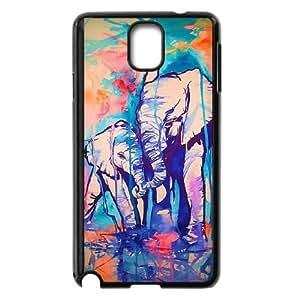 Samsung Galaxy Note 3 Cell Phone Case Black Elephant Pattern upxt