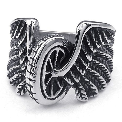 KONOV Stainless Steel Biker Silver