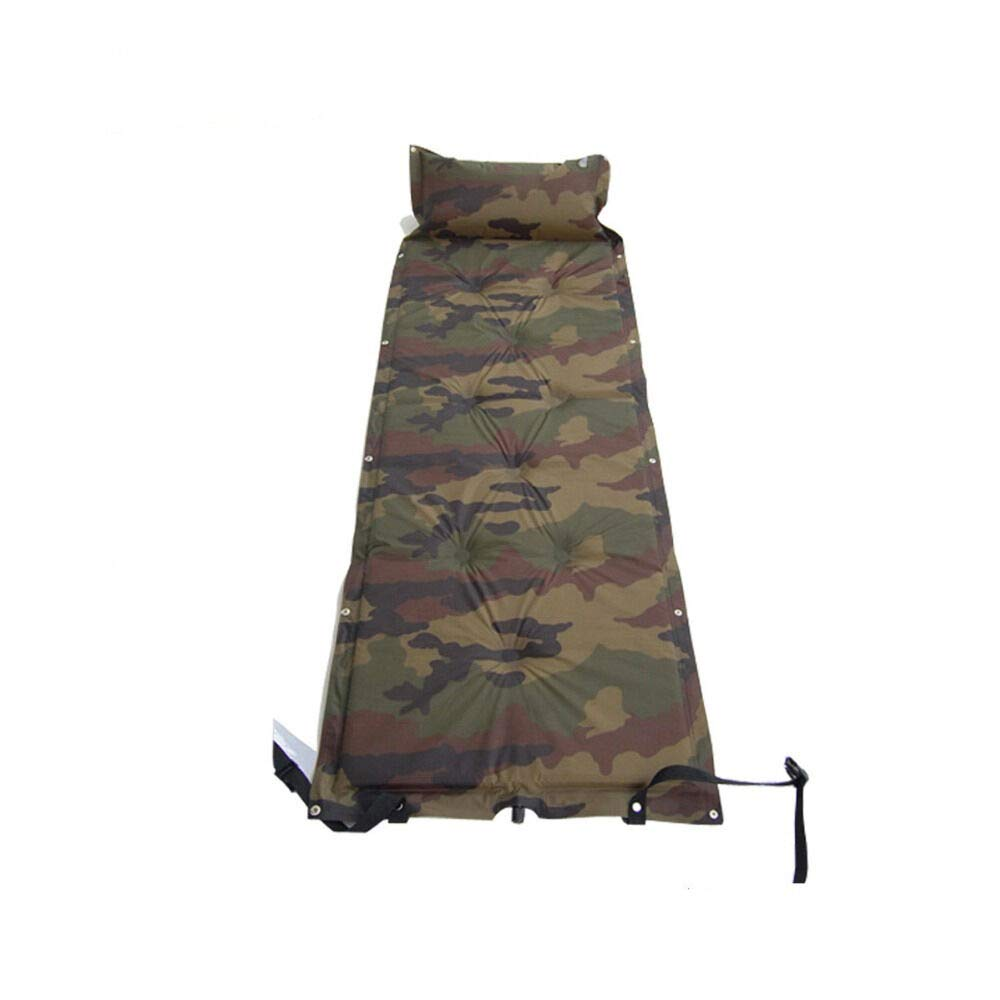 Outdoor Camping Sleeping Mat with Inflatable Cushion Camouflage D78340