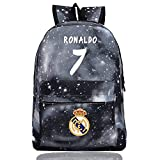 Cristiano Ronaldo Fans Backpacks Real Madrid Backpack for School,Travel One Size