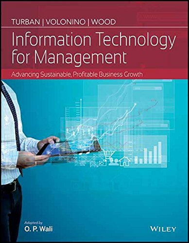 Read Online Information Technology For Management : Advancing Sustainable, Profitable Business Growth pdf