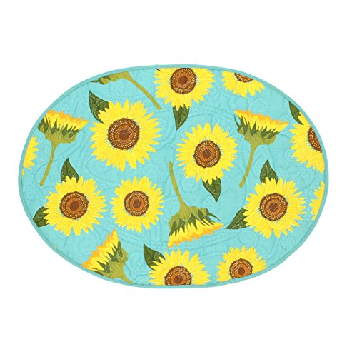 oval quilted placemats - 8