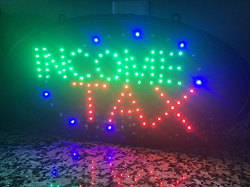 """INCOME TAX - Ultra Bright LED Neon Income Tax Business Motion Sign 19"""" x 10"""""""