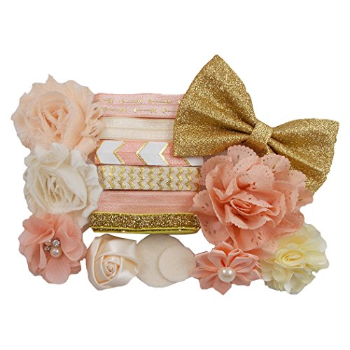 Peaches & Cream Mini DIY Headband Kit Makes 6