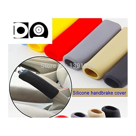 PRASOUM Silicone Anti Slip Car Interior Handbrake Brake Handle Lever Cover (Color as Availability)