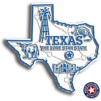 Amazon Com Texas State Map Fridge Magnet Refrigerator Magnets