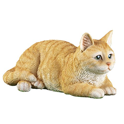 Collections Etc Pretty Tabby Cat Outdoor Garden Statue, ()