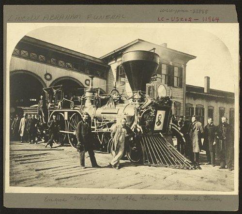 Photo: Engine,Nashville,Abraham Lincoln funeral train,ceremonies,railroad,IL,1865