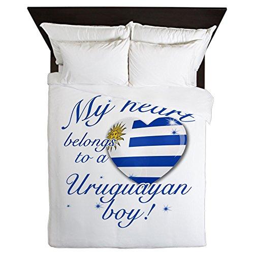 CafePress - My Heart Belongs To An Uruguayan Boy - Queen Duvet Cover, Printed Comforter Cover, Unique Bedding, Microfiber