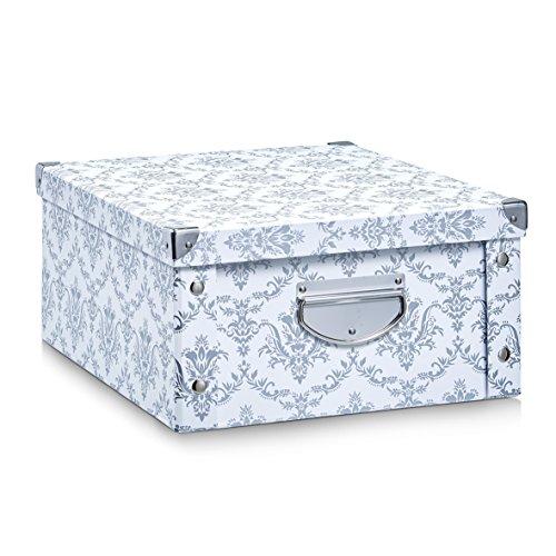 Zeller 17973 Aufbewahrungsbox Vintage, Pappe, weiß