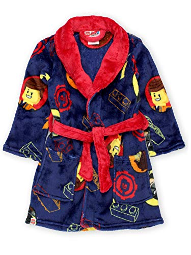 Lego Movie 2 The Second Part Boys Fleece Bathrobe Robe (4, Navy)